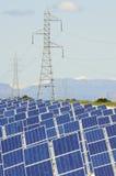 panels photovoltaic Arkivfoton