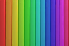 Panels Rainbow. Colorful panels background with plastic surfaces lined up with the rainbow colors Royalty Free Stock Photo