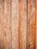 Panels of wood fence outside in garden Stock Photos