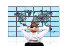 Panels with  world map Royalty Free Stock Images