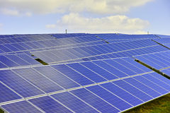 Panelsamling för sol- energi Royaltyfri Fotografi