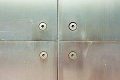 panelskruvrostfritt stål arkivbilder