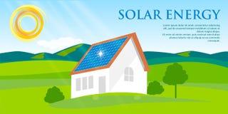 panelu czerwieni dach słoneczny Zdjęcie Royalty Free