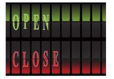 Panelu Otwarty Zamknięty Zdjęcie Stock