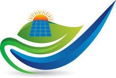 Panelu słonecznego logo ilustracja wektor