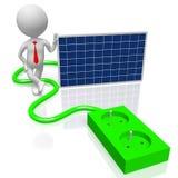 Panelu słonecznego pojęcie Obrazy Stock