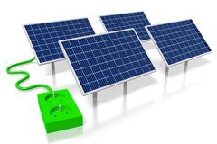 Panelu słonecznego pojęcie Zdjęcia Stock