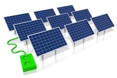 Panelu słonecznego pojęcie Obraz Stock