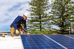 Panelu słonecznego technik Fotografia Stock