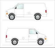 panelu samochód dostawczy biel Zdjęcia Stock