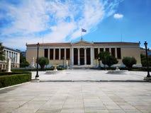Panepistimio, académie de ressortissant d'Athènes photo stock