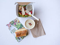 Panera Bread Take-out. On-line take out from Panera Bread and Caf Stock Photos