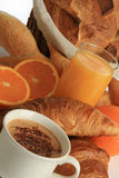 panera frukostkaffefrukter Royaltyfria Bilder