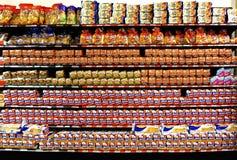 Panera skärm i en livsmedelsbutik i Merida, Yucatan Mexico Arkivbilder