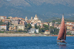 Panerai klassische Yachten fechten 2010 - Imperia an Lizenzfreie Stockfotos