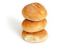 Panes aislados del pan del trigo Fotografía de archivo