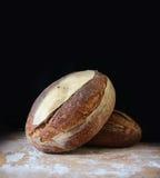 Panes crujientes del pan de centeno fresco Imagen de archivo
