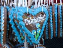 Panes de jengibre alemanes tradicionales de Oktoberfest Foto de archivo