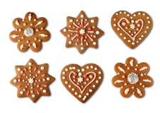 Panes de jengibre de la galleta de la Navidad Foto de archivo libre de regalías