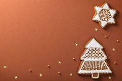 Panes de jengibre de la Navidad imagen de archivo