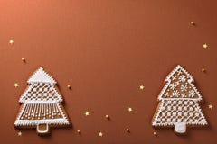 Panes de jengibre de la Navidad Imágenes de archivo libres de regalías