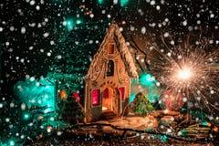 Panes de jengibre por Años Nuevos y la Navidad Fotos de archivo libres de regalías
