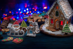 Panes de jengibre por Años Nuevos y la Navidad Foto de archivo