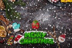 Panes de jengibre por Años Nuevos y la Navidad Imagen de archivo libre de regalías