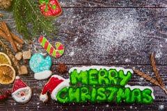 Panes de jengibre por Años Nuevos y la Navidad Imagen de archivo