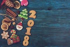 Panes de jengibre por nuevos 2017 años Imagen de archivo