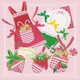 Panes de jengibre y utensilios de cocina de la Navidad Foto de archivo