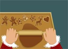 Panes del jengibre de la Navidad stock de ilustración