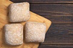 Panes del pan del ciabatta Imagen de archivo libre de regalías