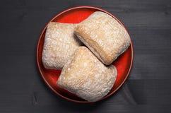 Panes del pan del ciabatta Fotos de archivo