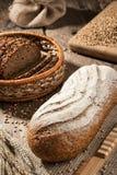 Panes del pan de centeno imagen de archivo libre de regalías