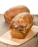 Panes del pan fresco del trigo integral Fotografía de archivo libre de regalías