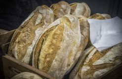 Panes del pan hecho en casa fotografía de archivo libre de regalías