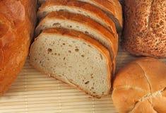 Panes del pan y de los rodillos de pan Fotografía de archivo