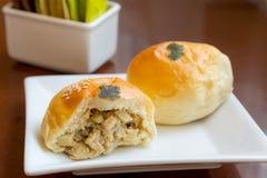 Panes deliciosos del pollo y de la seta Foto de archivo libre de regalías