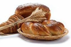 Panes frescos para una variedad aislada. Fotografía de archivo