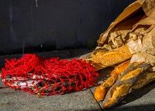 Panes y pescados imagen de archivo
