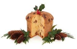 Panetone圣诞节蛋糕 库存图片