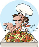Panettiere della pizza Immagini Stock Libere da Diritti