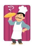 Panettiere Holding Bread Fotografie Stock Libere da Diritti