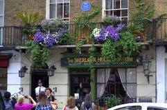 Panettiere Street London del museo di Sherlock Holmes Fotografia Stock Libera da Diritti