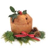 panettone Χριστουγέννων κέικ Στοκ φωτογραφία με δικαίωμα ελεύθερης χρήσης