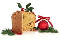 panettone Χριστουγέννων κέικ Στοκ φωτογραφίες με δικαίωμα ελεύθερης χρήσης