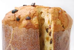 Panettone. Baked traditional Christmas fruit from different countries Royalty Free Stock Images