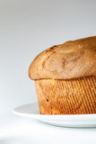 Panettone. (typical Italian sweet during Christmas) on white background Royalty Free Stock Images