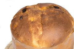 Panettone on an White background Stock Image